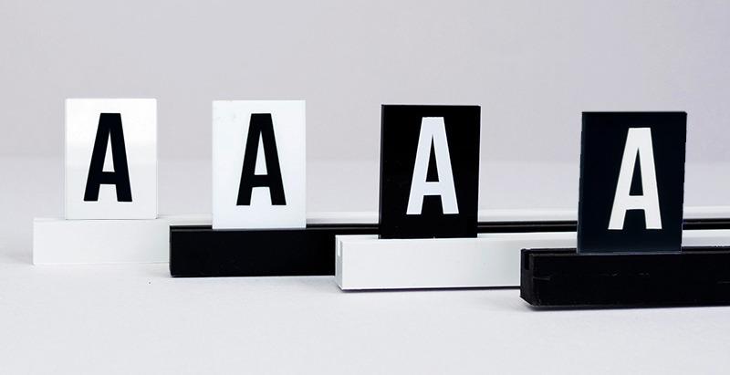 Menu Alphabet - Lettres sur rails